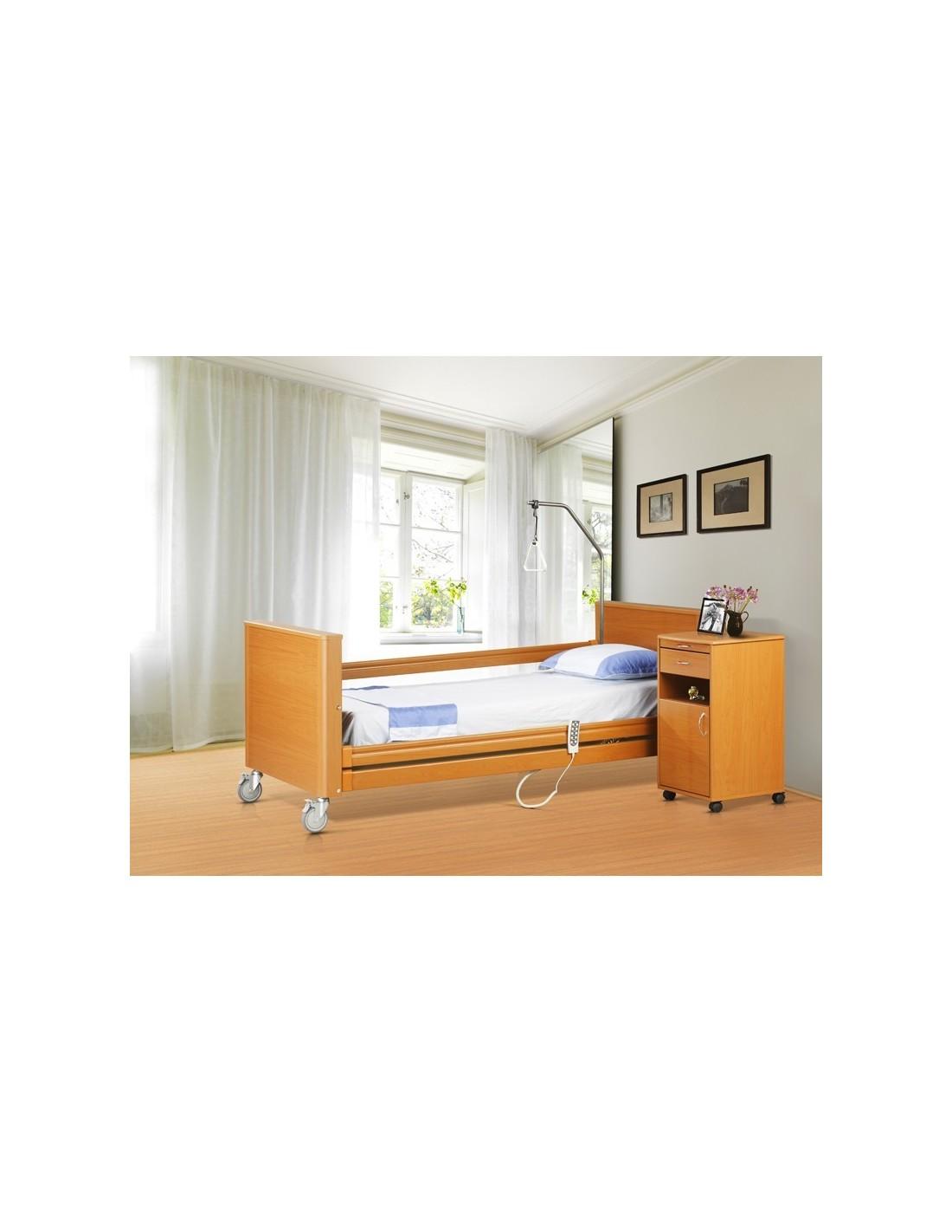 Letto elettrico degenza in legno lusso sofia 120 per anziani e disabili - Scaldino elettrico per letto ...