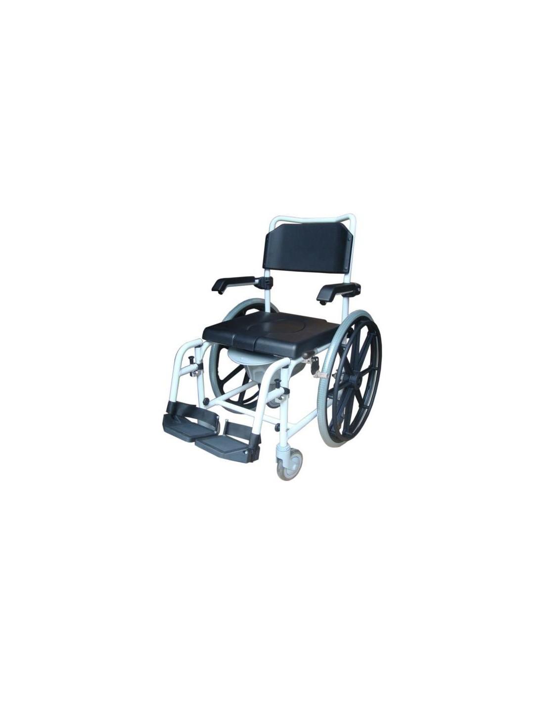 Sedia da doccia wave con ruote grandi ausilio per anziani - Sedia da bagno per disabili ...