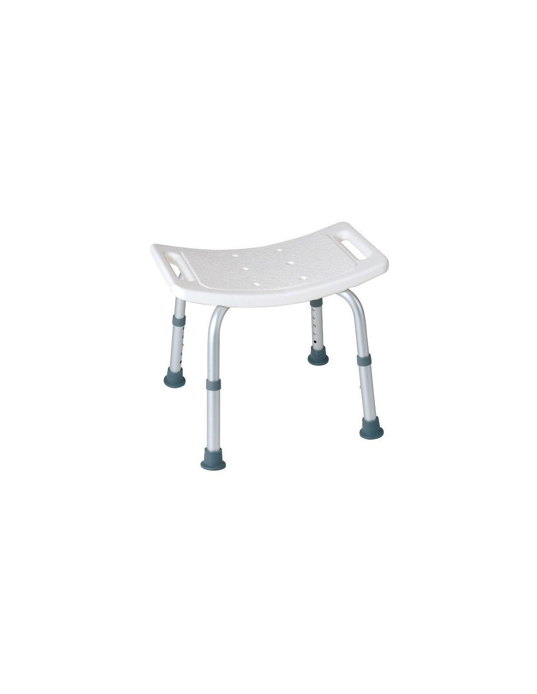 Sedia da doccia per disabili e anziani senza schienale per - Sedia da bagno ...