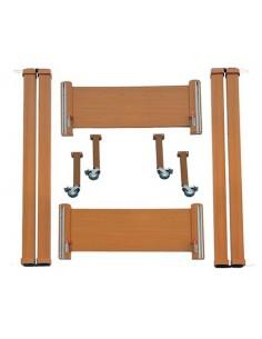 Kit in legno con sponde per letto in ferro Wimed