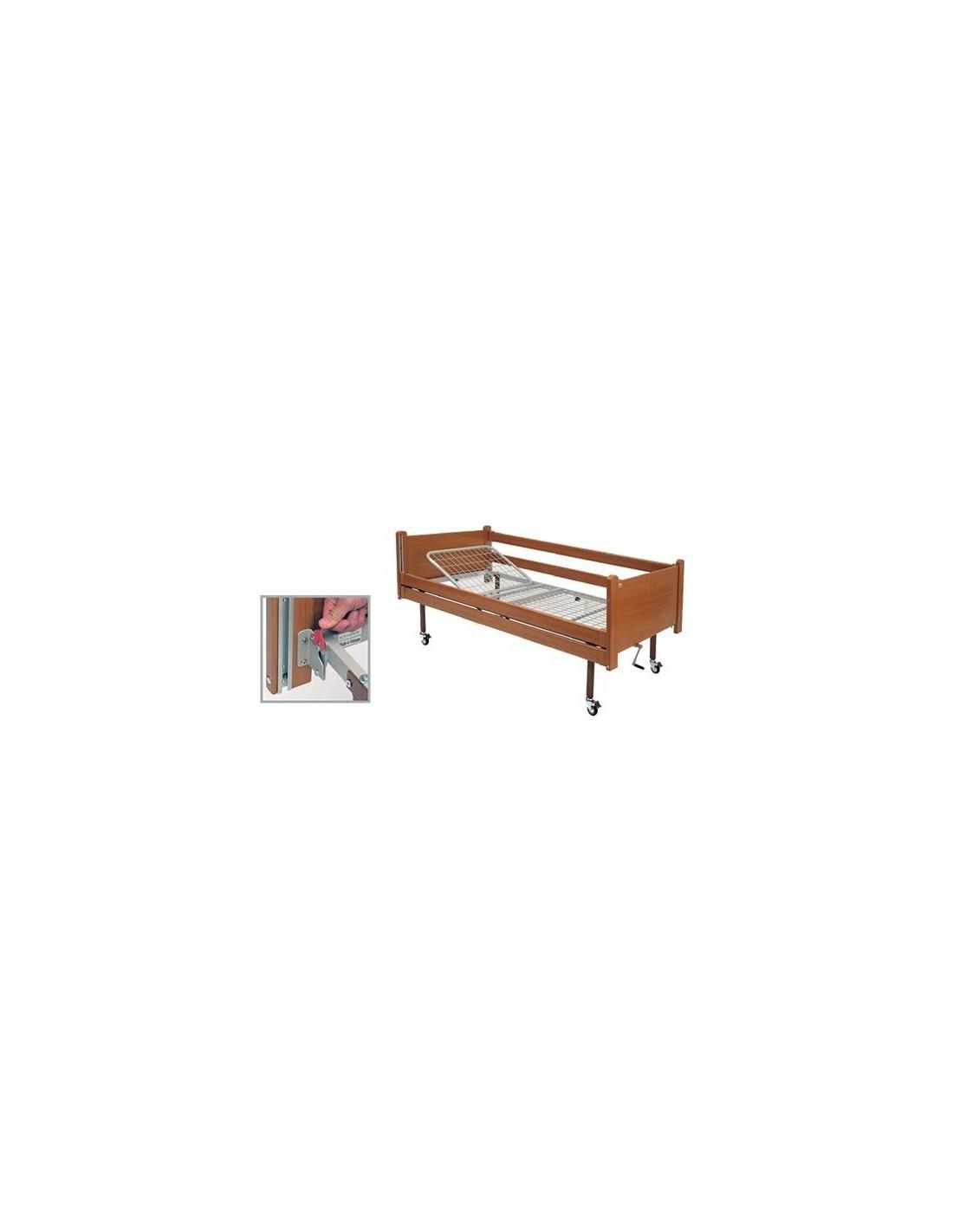 Kit in legno con sponde per letto in ferro wimed - Sponde per letto ...