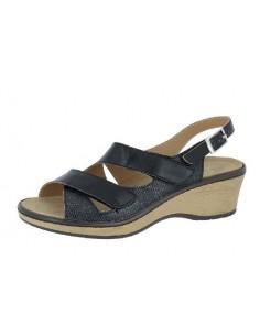 Sandalo donna Personelle Nero Sanagens