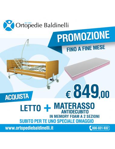 Offerta Letto ortopedico Tami + Materasso Memory 2 sezioni Zeta 605+ OMAGGIO !