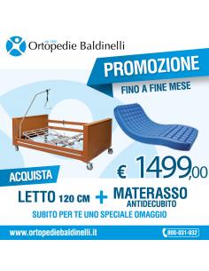 OFFERTA Letto elettrico Sofia 120 cm + Materasso antidecubito Polyplot Wimed + Omaggio !