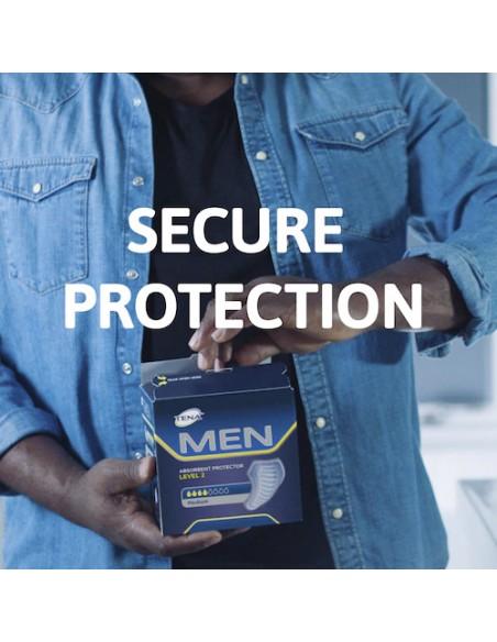 Tena Men : protezione assorbente. Incontinenza uomo